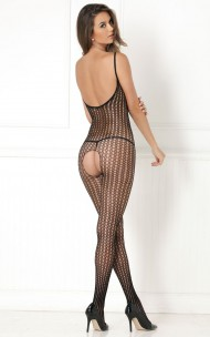 Rene Rofe - 7004 Quarter Crochet Net Bodystocking