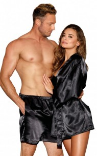 Dreamgirl - 10976 Men's Satin Boxer Short with Pockets