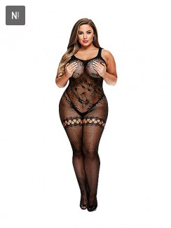 Baci - Crotchless Bodystocking Queen Size