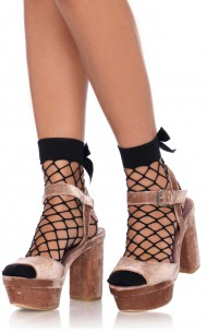 Leg Avenue - 3044 Net Anklets With A Bow Top