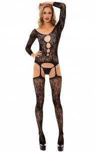 Leg Avenue - 89103 Floral Lace Bodystocking