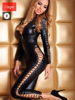 7heaven - Sheila Sexy Catsuit med Blixtlås & Snörning  Queen Size
