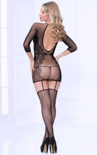 Seven 'Til Midnight - 20467 Seamless Floral Pattern Bodystocking