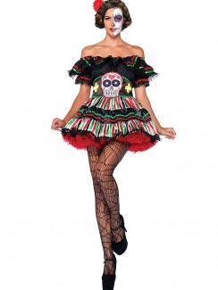 Leg Avenue - 85293 Day of The Dead Doll Costume
