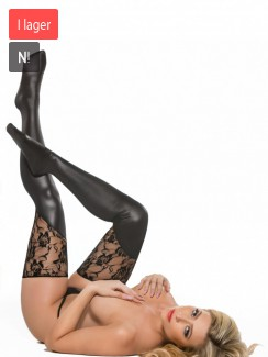 Kitten by Allure Lingerie - 7-3602K Lace And Wet Look Tights